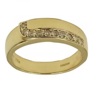 14ct Yellow Gold Ladies Fancy CZ Eternity Ring 5mm 4.87g O