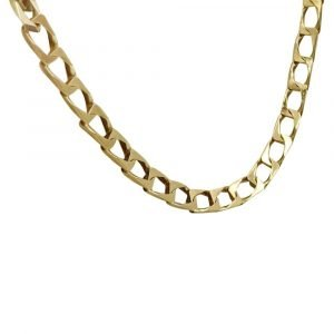 "9ct Gold Flat Ladies Vintage Curb 20"" 2mm Chain 4.83g"