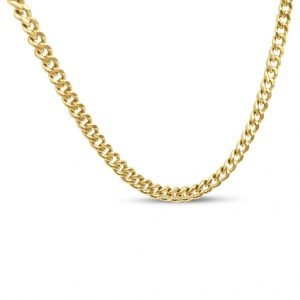 "Gold 9ct Curb Chain Fine 24"" 2mm 6.8g"
