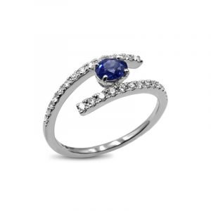 Sapphire & Diamond 18ct White Gold Gemstone Ring