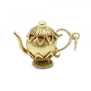 Pre-Owned Gold Vintage Teapot Charm Pendant 9ct gold