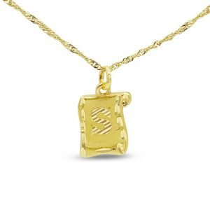 22ct Inital S Necklace 916 Asian Gold