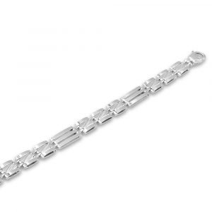 Sterling Silver Fancy Ladies Bracelet Three Row