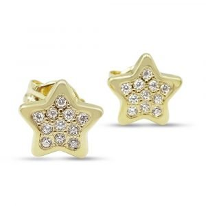 Star CZ Star Studs 9ct Gold