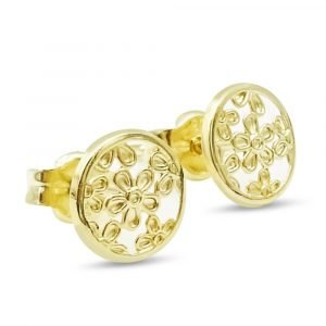Small Gold Flower Stud Earrings 9ct