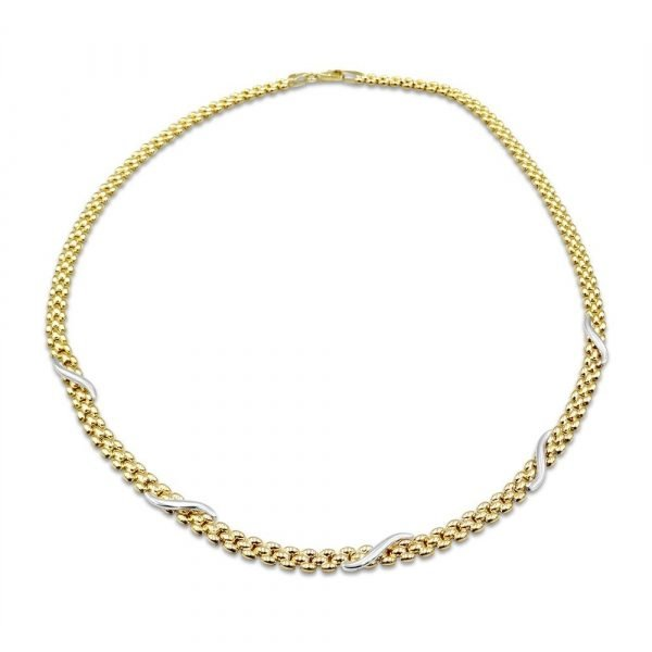 Gold Panther Necklace 9ct Gold 17""