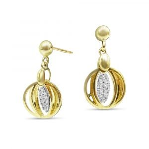 9ct Moveable Drop Earrings Gold