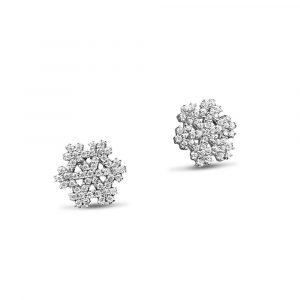 Gold Snowflake Earrings 9ct