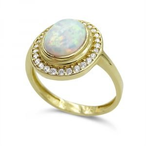 Created Opal Rubover Cluster Ring for Ladies