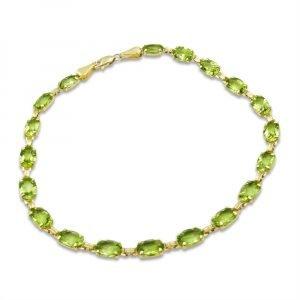 Peridot 9ct Gold Bracelet For Ladies 9.5carat