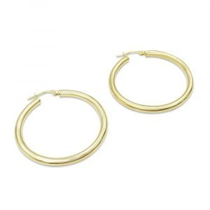 Gold Hoop Earrings For Ladies 36mm