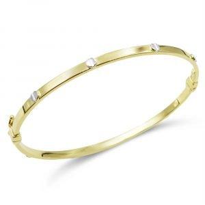 9ct Gold Screw Bangle
