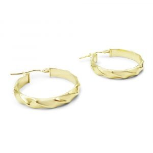 9ct Gold Creole Hoops 23mm