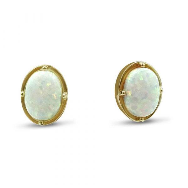 9ct Created Opal Earrings For Ladies