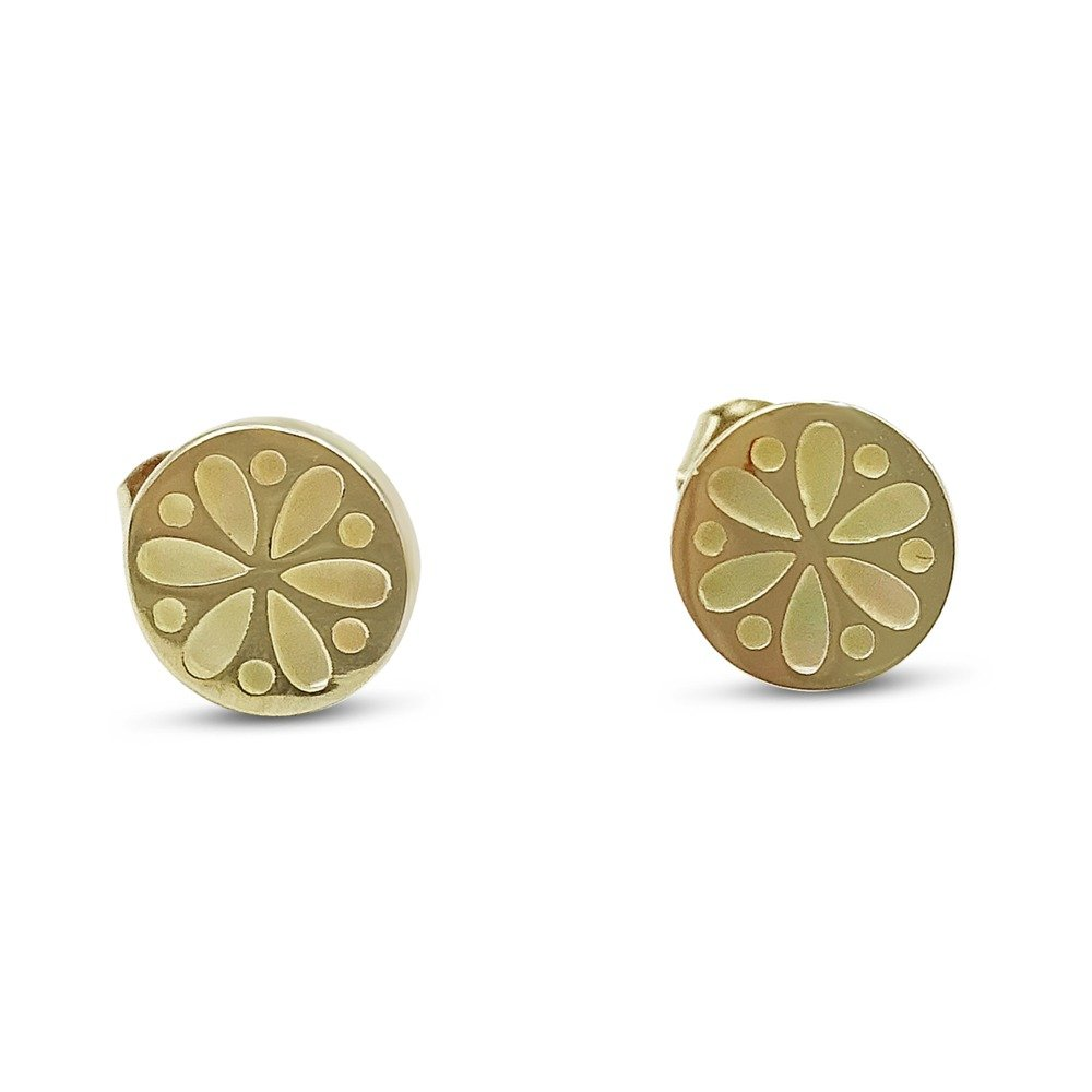 Mother of Pearl Earrings 9ct Gold
