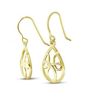 9ct Celtic Gold Earrings For Ladies