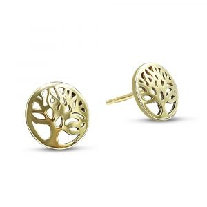 Tree Of Life Earrings 9ct Gold