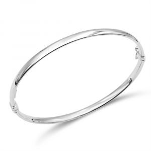 White Gold Bangle 9ct For Ladies