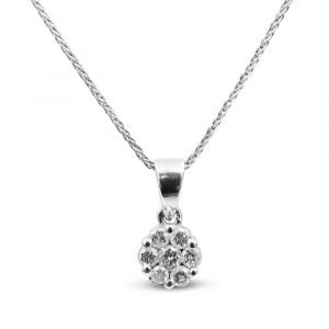 9ct White Gold Diamond Pendant 0.20ct