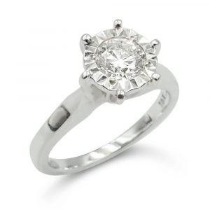 18ct Diamond Engagement Ring 0.50ct White Gold