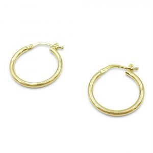 9ct Plain Creole Hoop Earrings 20mm