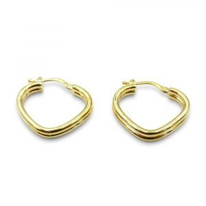 9ct Gold Hoops V Shaped Medium