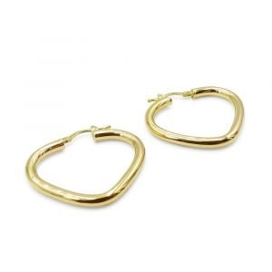 9ct Hoops V Shaped Gold Earrings
