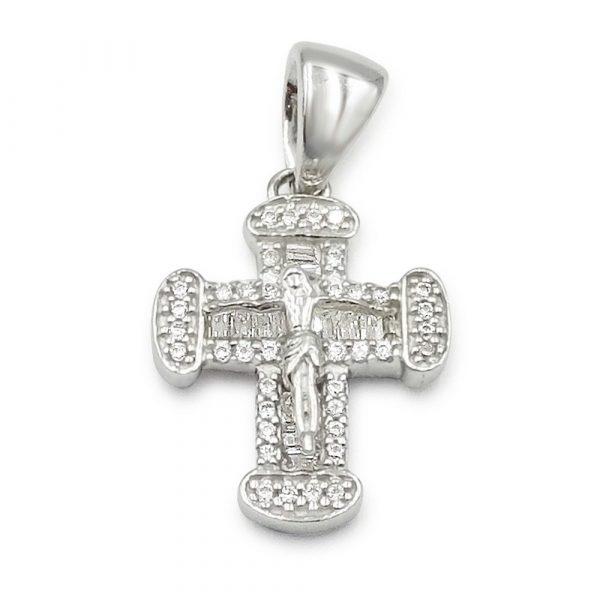 White Gold Crucifix Dante MINI Ladies 9ct
