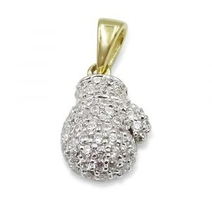 9ct Gold Boxing Glove Pendant Small