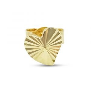 9ct Gold Single Heart Stud Small