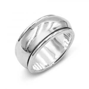 Preowned Silver Spinner Ring Size Q