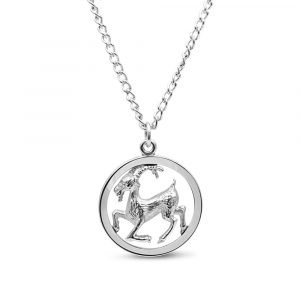 Sterling Silver Goat Pendant and Chain Second Hand