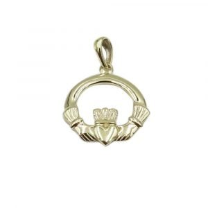 Gold Claddagh Pendant 9ct Small
