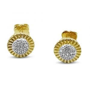 9ct Round Cz Earrings
