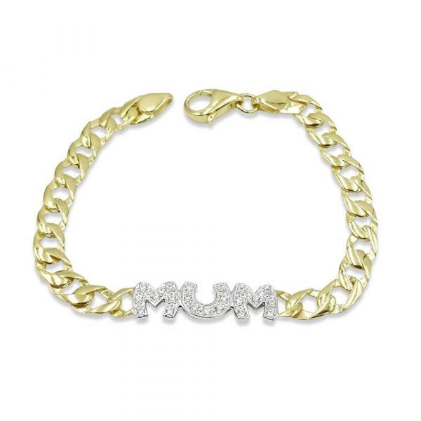 Mum Bracelet 9ct Gold Ladies