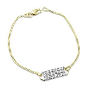 Childrens Gold Small Bracelet 9ct 14cm