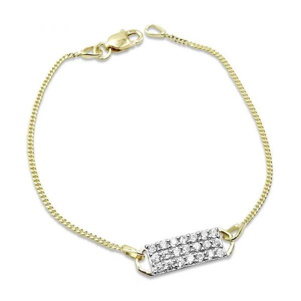 Childrens Gold Small Bracelet 9ct 14cm