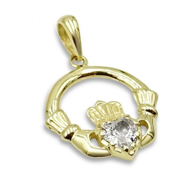 Gold Claddagh Pendant Small 9ct