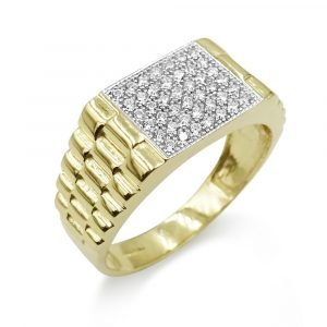 Mens Gold Pinky Ring 9ct Jubilee Style