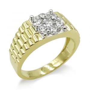 Jubilee Style Gold Mens Pinky Ring 9ct