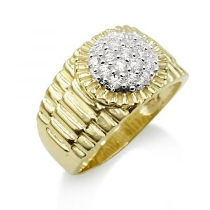 Circular Gents Jubilee Style 9ct Ring