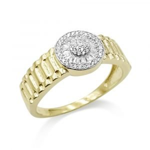 Pinky Ring 9ct Jubilee Style Gold Mens