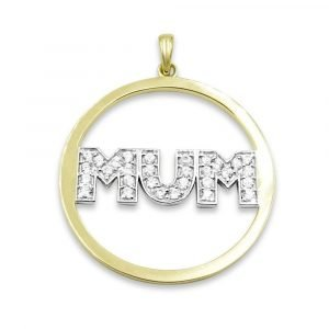 9ct Gold Mum Pendant