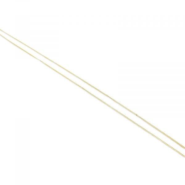 9ct Fine Curb Chain 16inch 0.79mm Gold