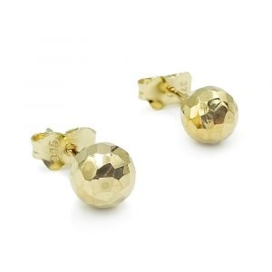Faceted Gold Ball Studs 9ct 6mm