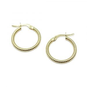 9ct Fancy Small Hoops Earrings Gold