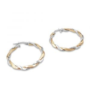 Rose White Gold Hoops New