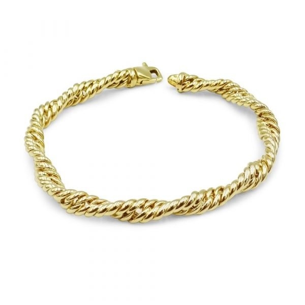9ct Gold Twist Bracelet Fancy New