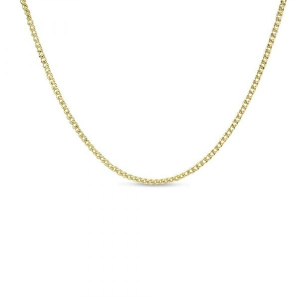 9ct Fine Curb Chain 16inch 1.1mm Gold