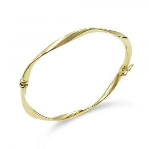 9ct Gold Twist Bangle For Ladies